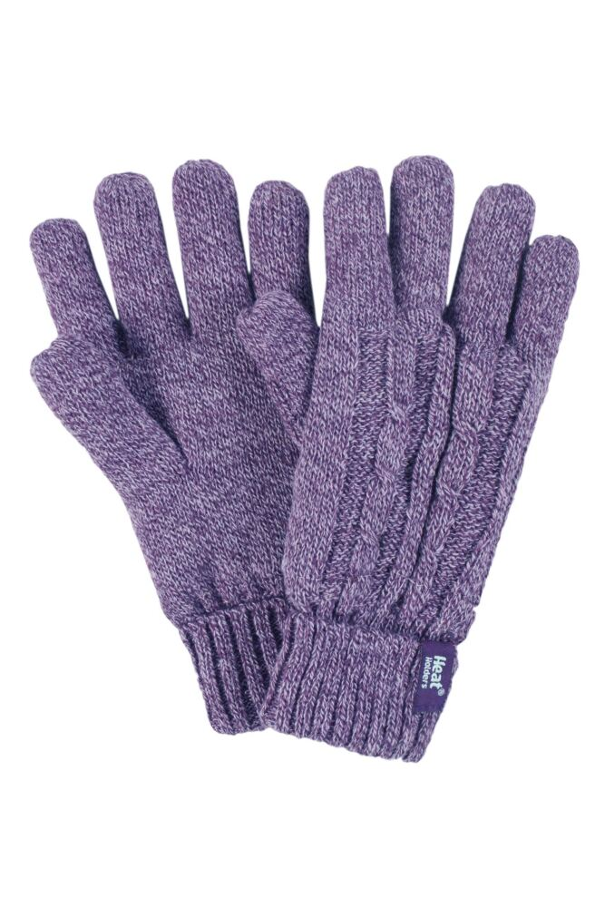 Ladies 1 Pair Heat Holders 2.3 Tog Heatweaver Yarn Gloves