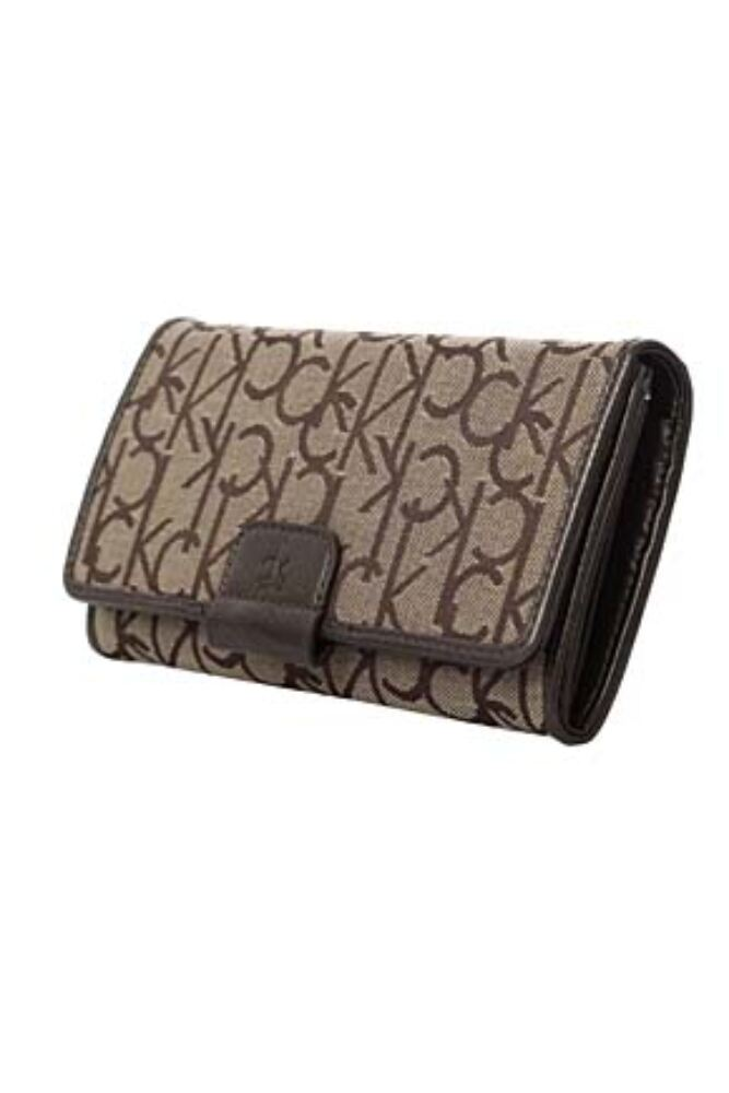 Ladies Calvin Klein Logo Wallet For Notes, Cards and Coins  50% OFF