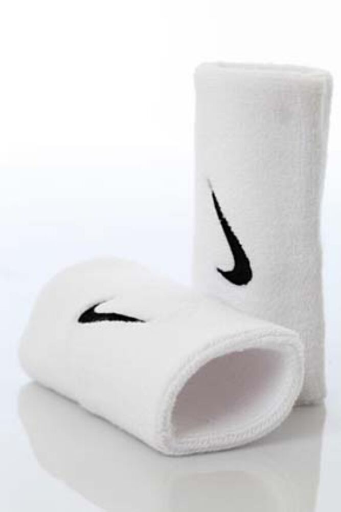Mens and Ladies 2 Pack Nike Swoosh Double-Wide Wristbands