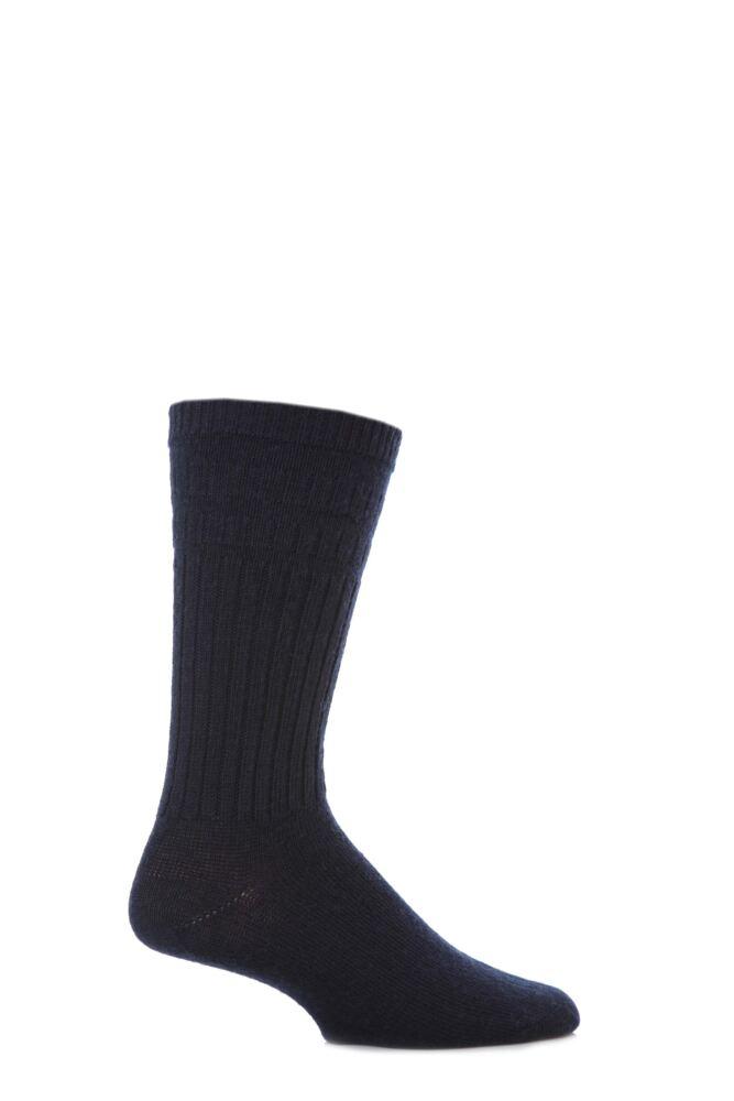 Mens 1 Pair HJ Hall Thermal Wool Softop Socks