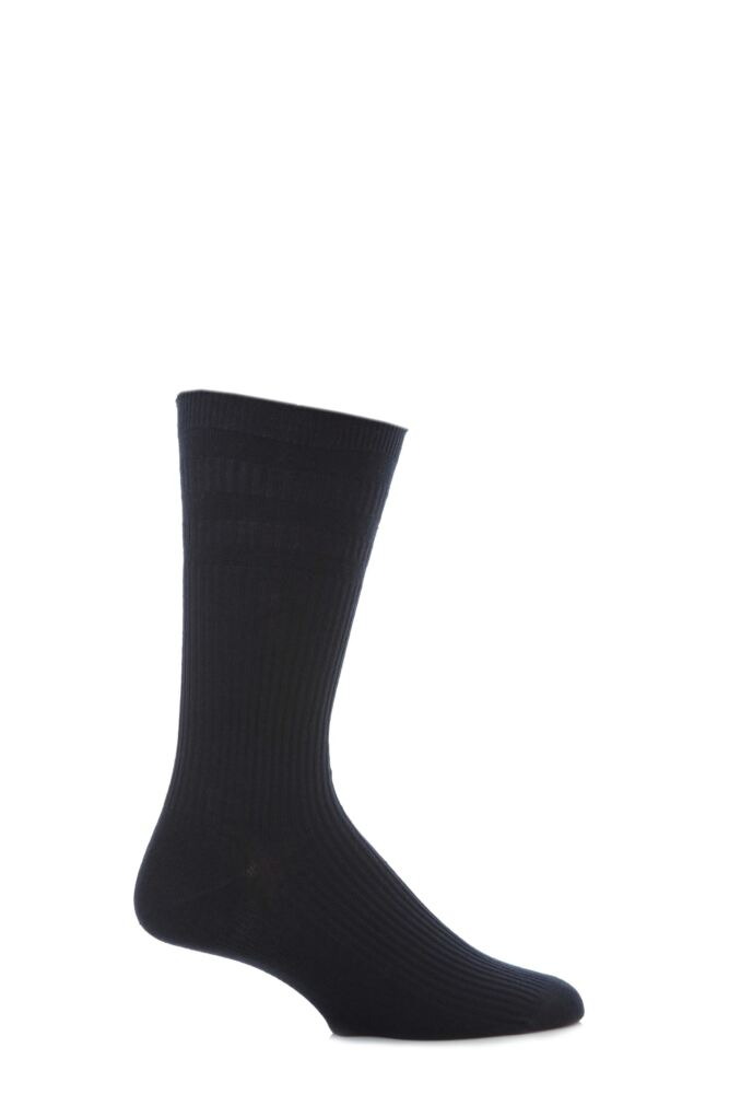 Mens 1 Pair HJ Hall Original Cotton Softop Socks