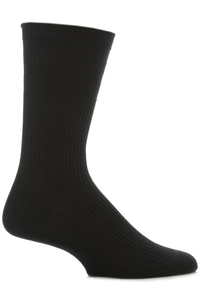 Mens 1 Pair HJ Hall Extra Wide Cotton Softop Socks In 4 Colours