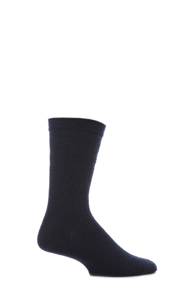 Mens 1 Pair HJ Hall Original Wool Softop Socks