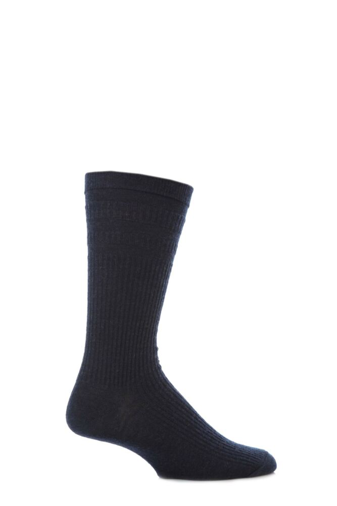 Mens 1 Pair HJ Hall Extra Wide Wool Softop Socks