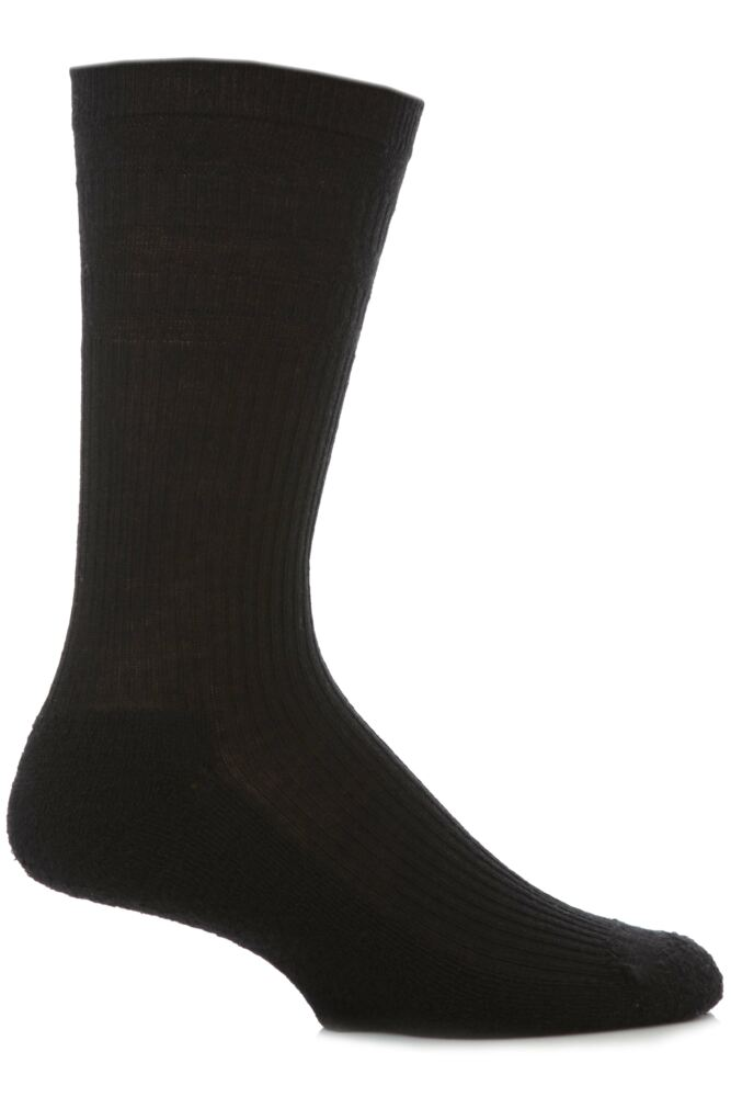 Mens 1 Pair HJ Hall Extra Wide Wool Softop Socks In 4 Colours