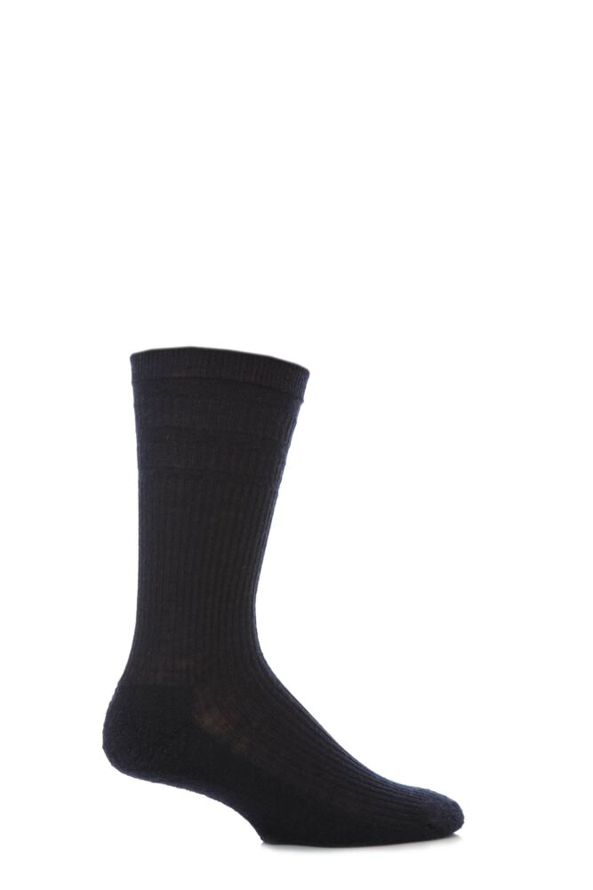 Mens 1 Pair HJ Hall Cushioned Sole Wool Softop Socks