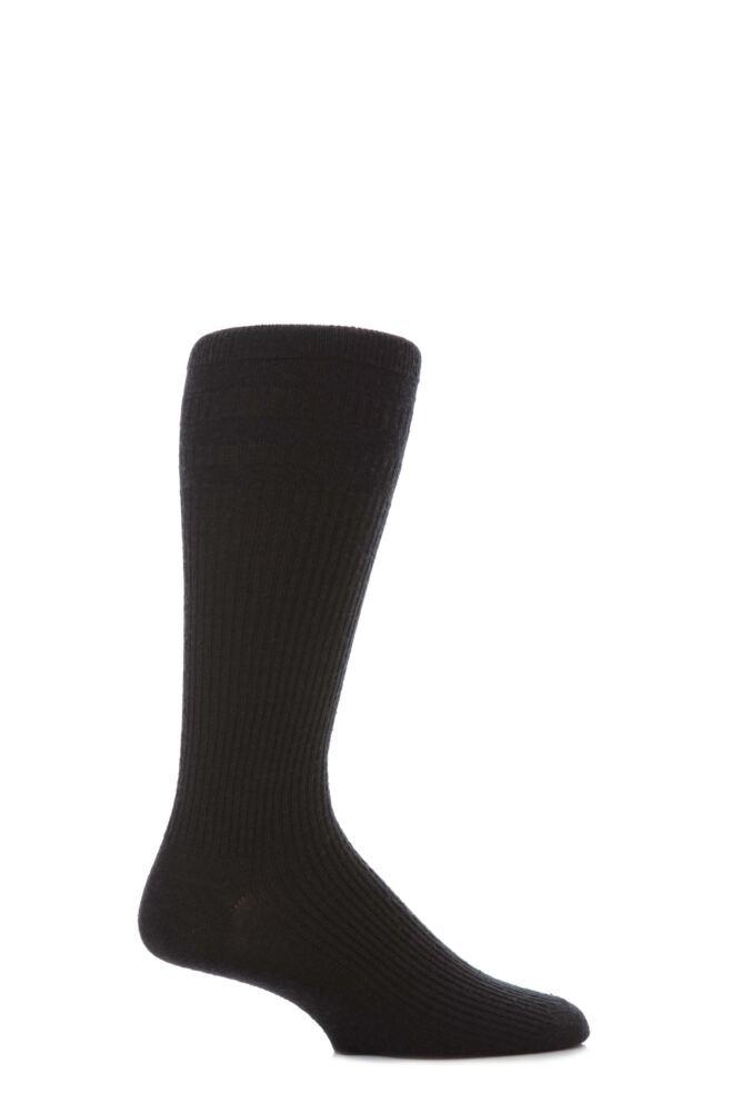Mens 1 Pair HJ Hall Mid Calf Wool Softop Socks