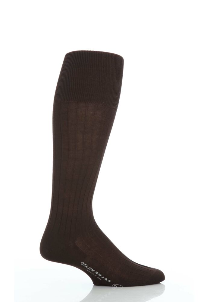 Mens 1 Pair Falke Milano 100% Cotton Knee High Socks