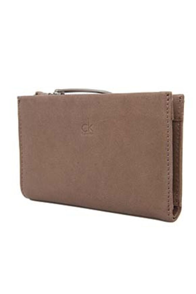 Ladies Calvin Klein Textured Leather Wallet For Notes, Cards and Coins - Sale