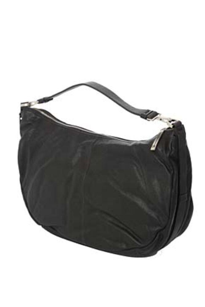 Ladies Calvin Klein Textured Leather Shoulder Bag - Sale