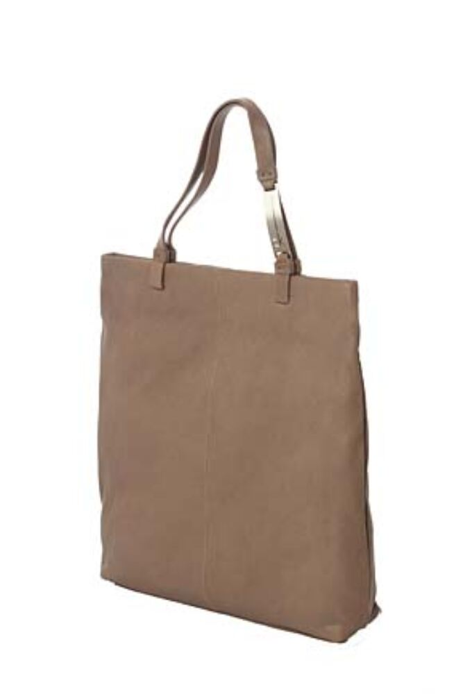 Ladies Calvin Klein Textured Leather Large Flat Shopping Handbag - Sale