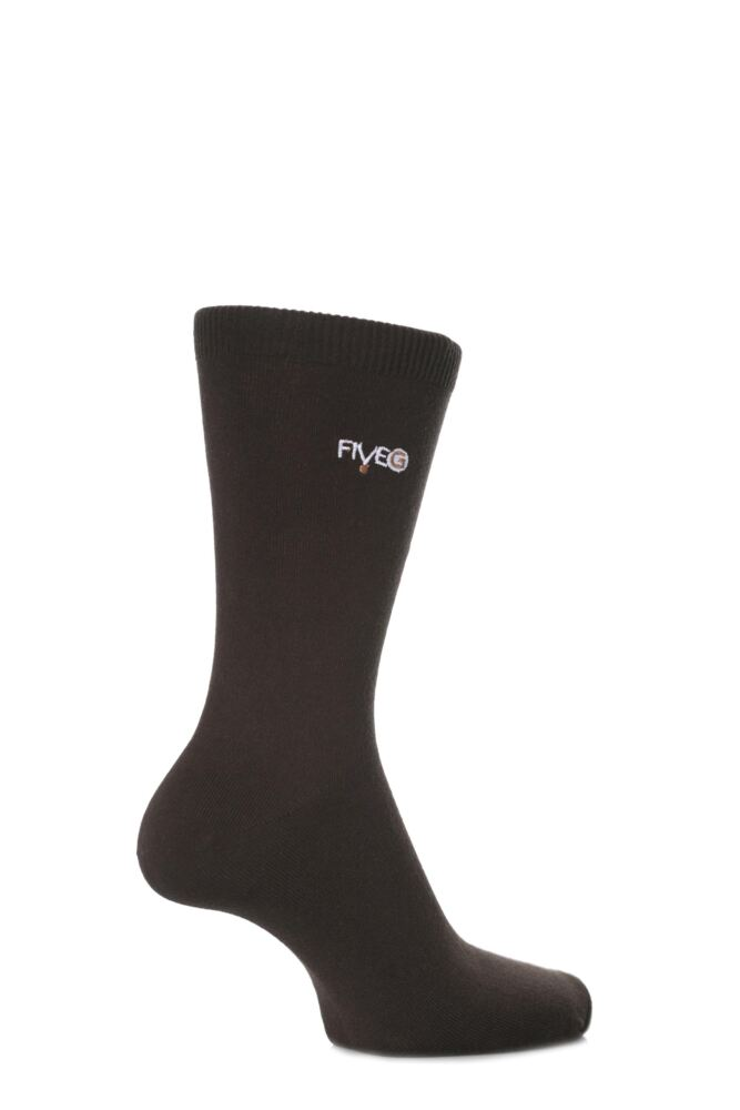 Mens 2 Pair FiveG Plain Trouser Socks made with Fairtrade Cotton