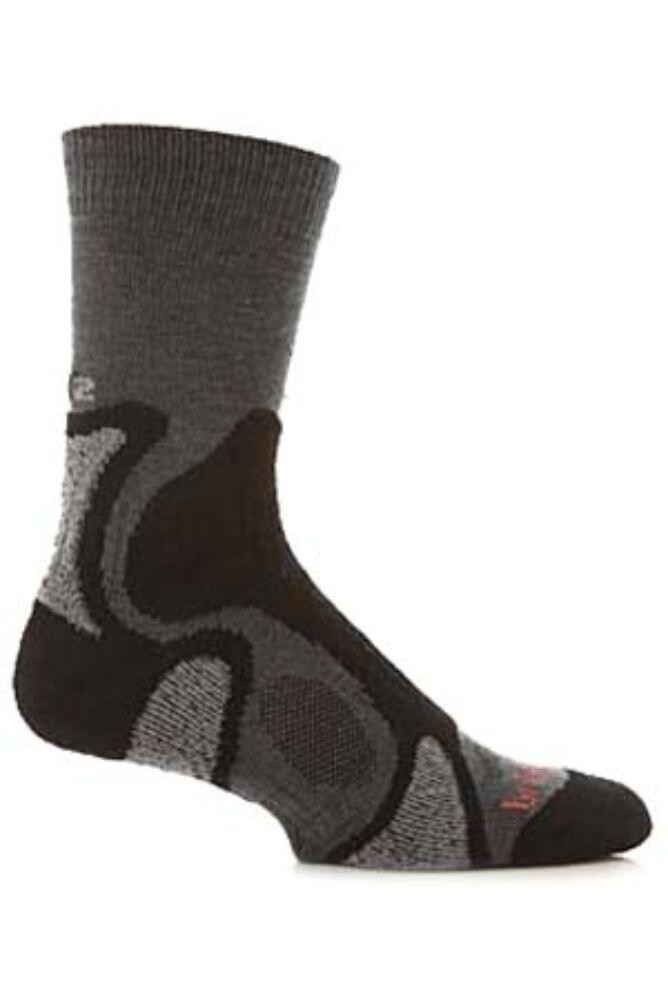 Mens 1 Pair Bridgedale X-Hale Trailblaze Socks With Impact And Protective Padding