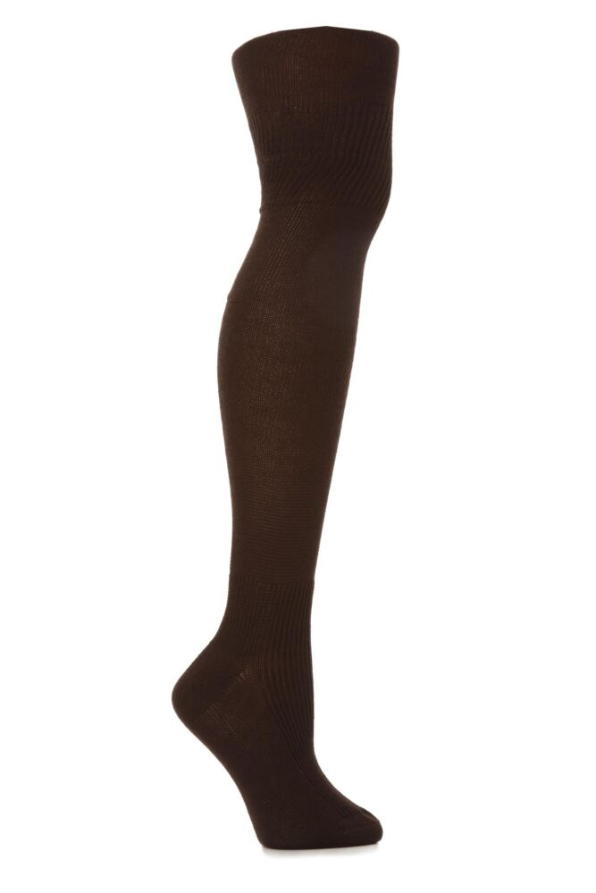 Ladies 1 Pair Oroblu Annika Cotton Over The Knee Socks 50% OFF