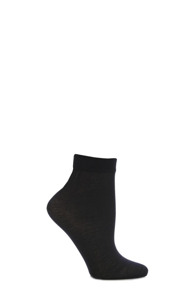 Ladies 1 Pair Trasparenze Monique 60 Denier Cotton Sock