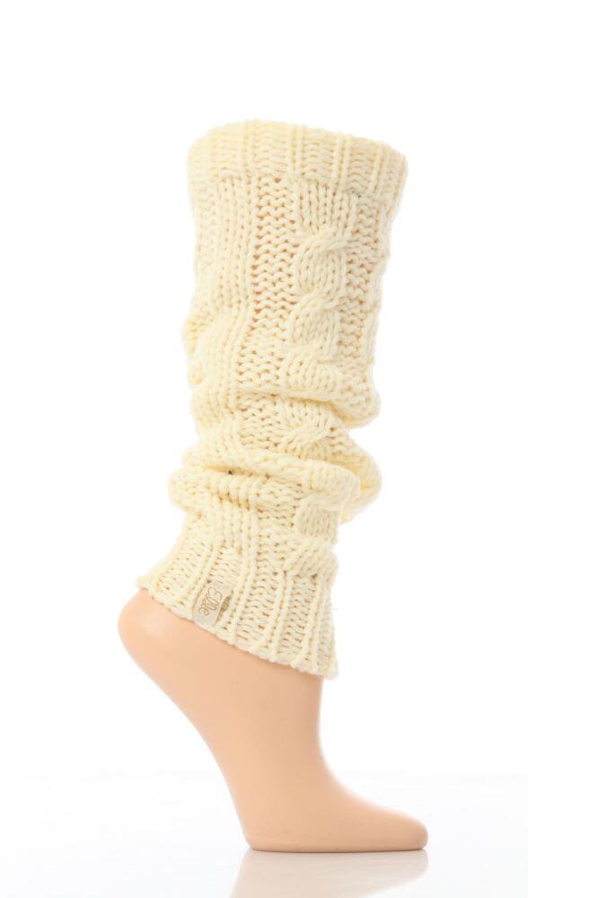 Ladies 1 Pair Elle Soft Cable Knit Legwarmer