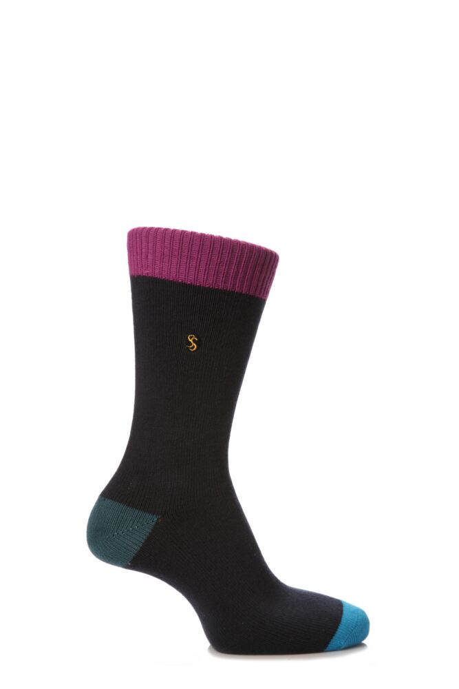 Mens 1 Pair SockShop Contrast Colour Burst Socks