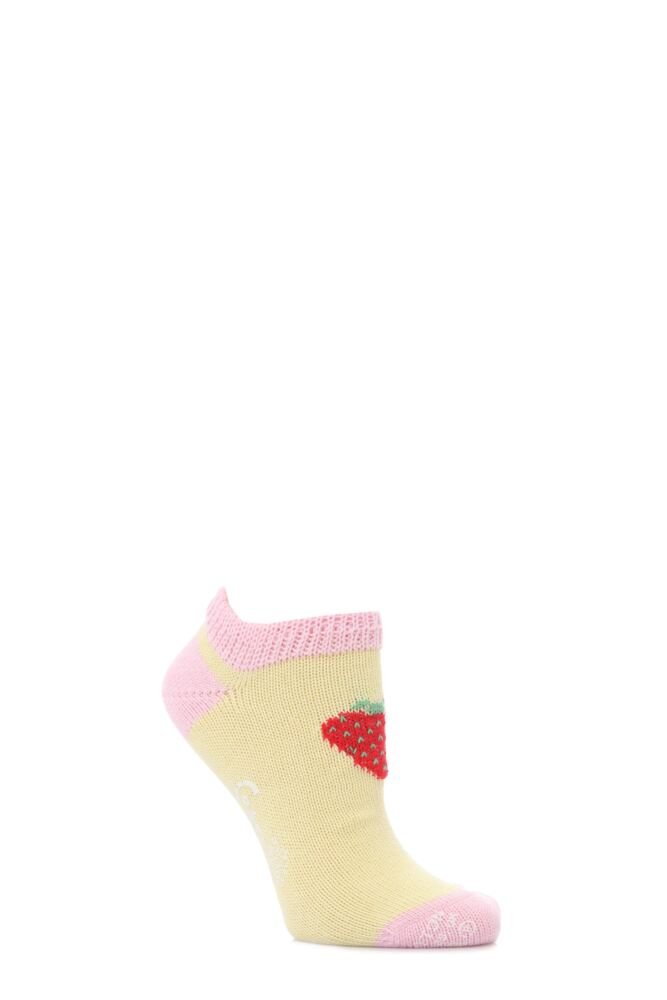 Ladies 1 Pair Corgi 100% Cotton Strawberry Trainer Socks