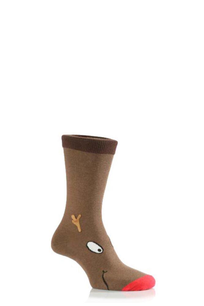 Kids 1 Pair SockShop Dare To Wear Christmas Socks - Rudolph