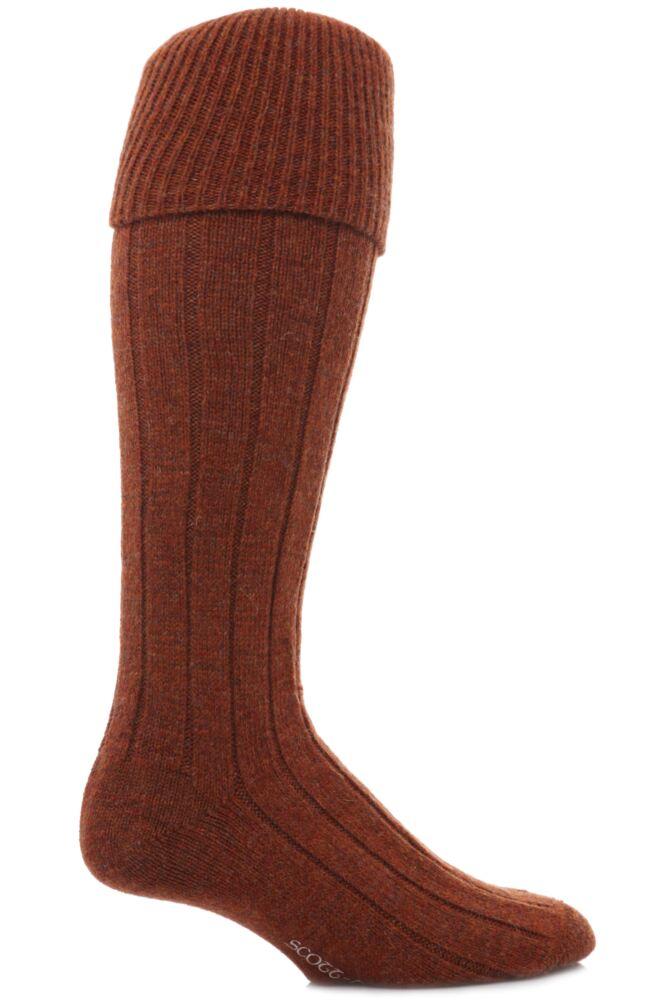 Mens 1 Pair Scott Nichol Shetland Wool Rib Shooting Socks In 7 Colours