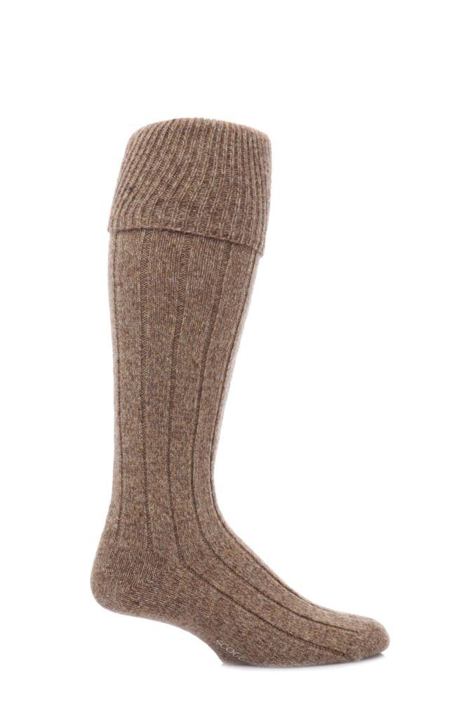 Mens 1 Pair Scott Nichol Shetland Wool Rib Shooting Socks