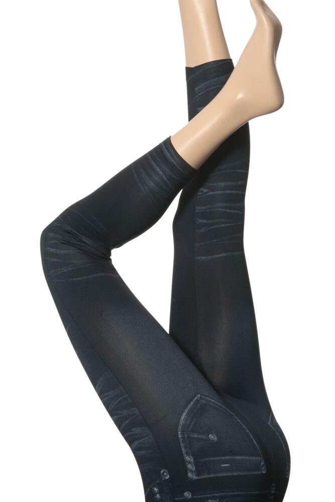 Ladies 1 Pair Silky Jeggings - Leggings Disguised As Jeans -