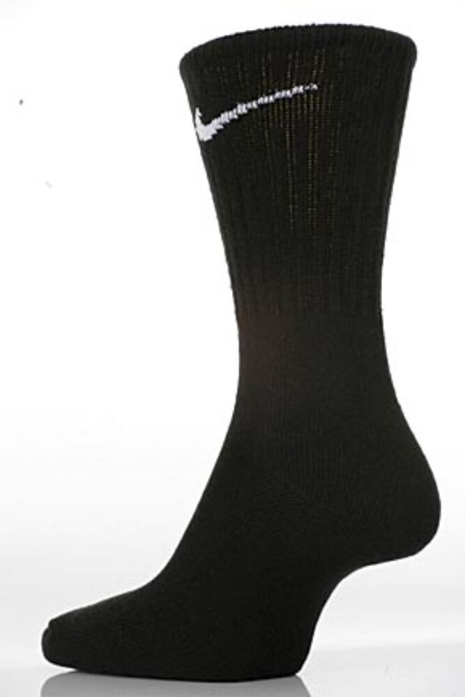 Mens and Ladies 3 Pair Nike Sports Cotton Half Cushioned Crew Socks