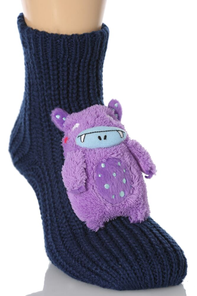 Boys 1 Pair SockShop Toy Box Socks Monster With Non-slip Grip