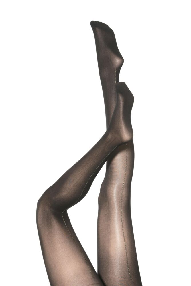 Ladies 1 Pair Silky Party Tights - Flamenco Printed Back Seam 50% OFF