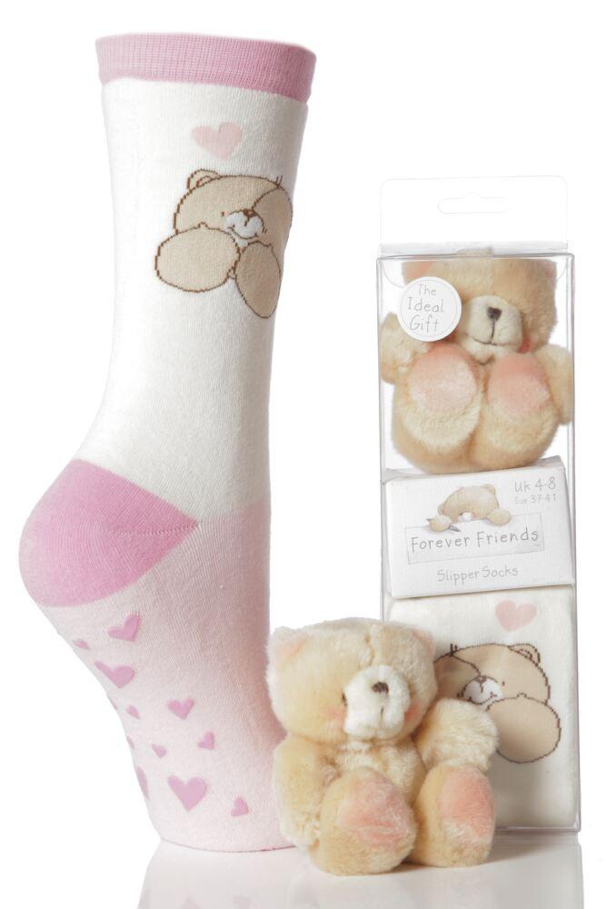 Ladies Forever Friends Bear and Slipper Socks Gift Box
