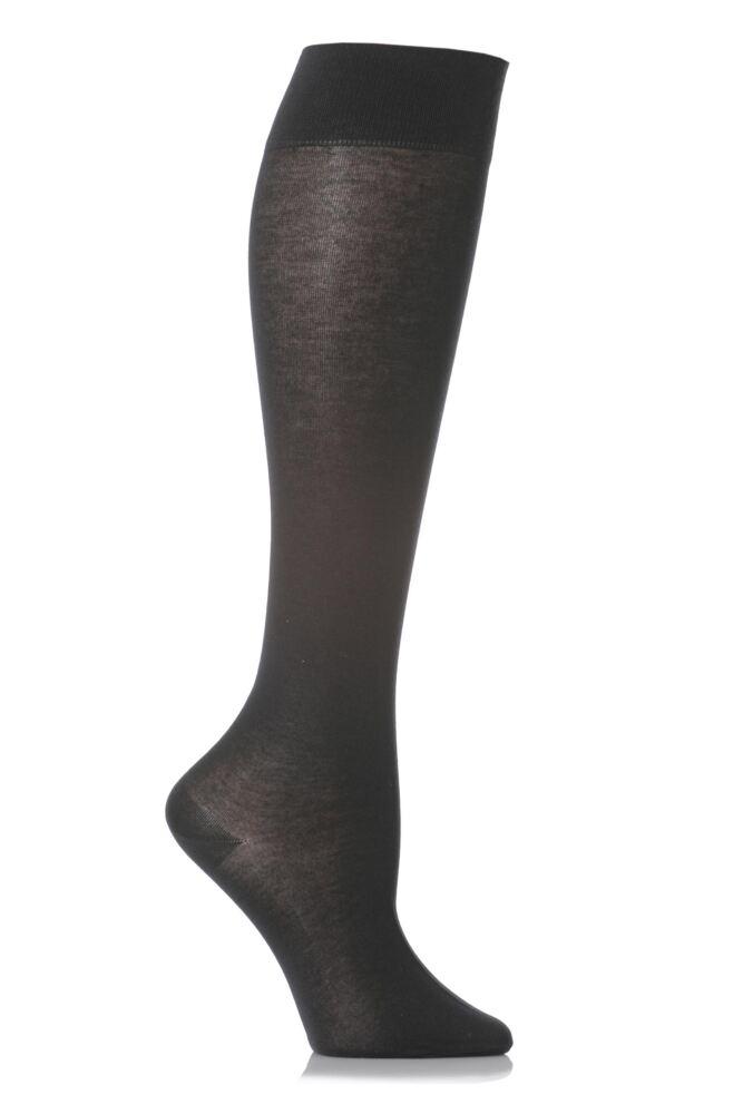 Ladies 1 Pair Falke Cotton Touch Knee High Socks