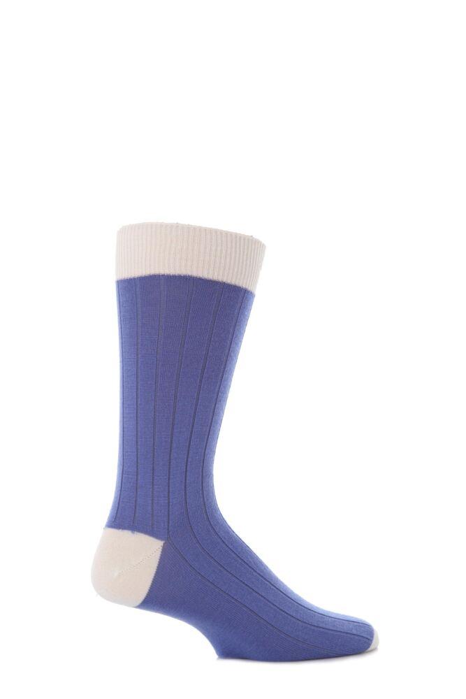 Mens 1 Pair John Smedley Denholm Plain Merino Wool Socks 25% OFF
