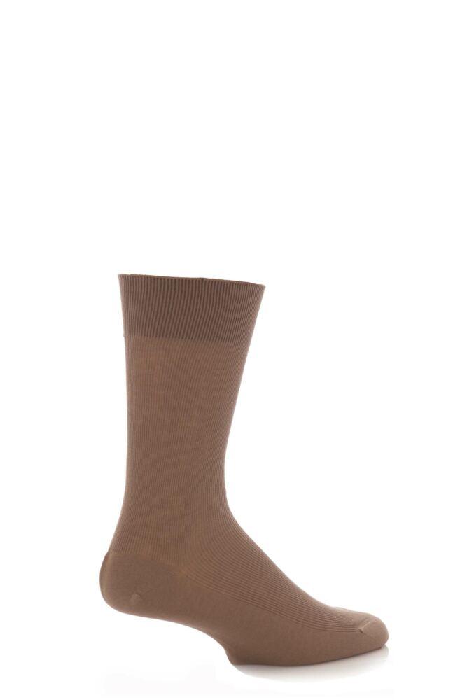 Mens 1 Pair SockShop Rib 97% Mercerised Cotton Socks