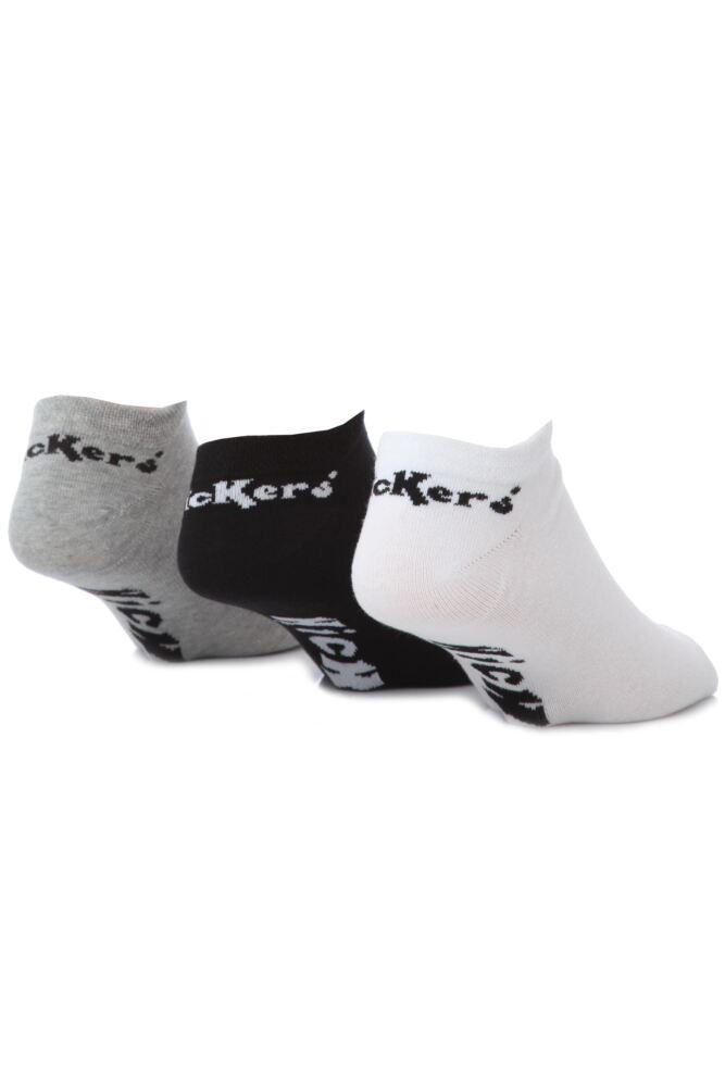 Mens 3 Pair Kickers Plain Trainer Socks 50% OFF