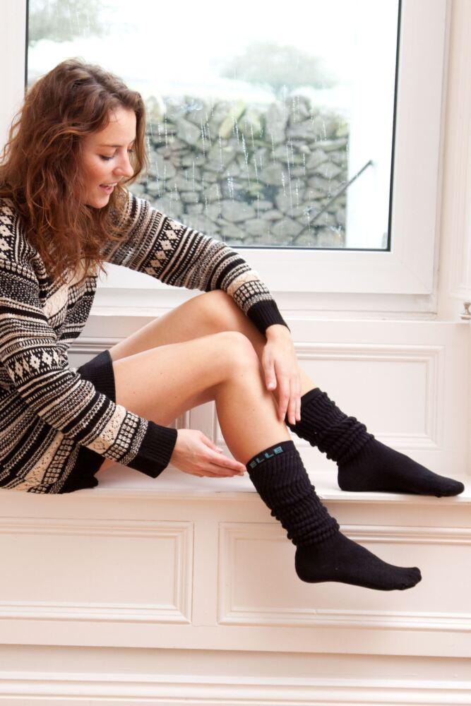 Ladies 1 Pair Elle Cotton Slouch Socks In 6 Colours