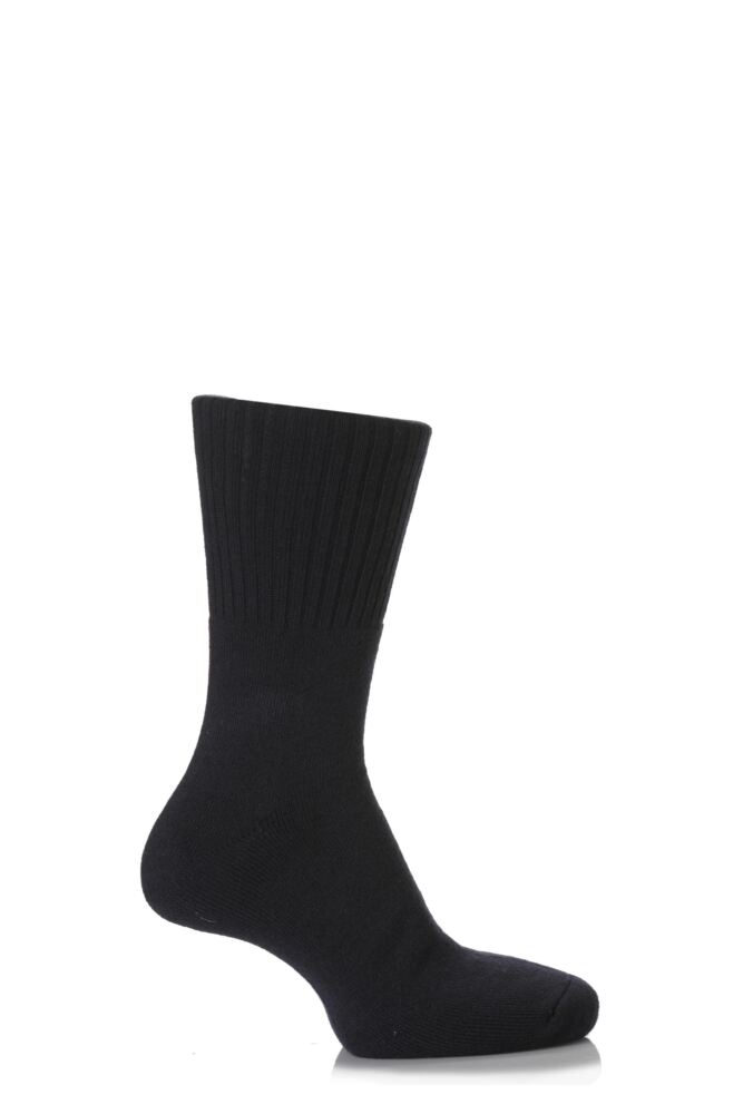 Mens and Ladies 1 Pair SockShop Comfort Cuff and Full Cushioned Cotton Socks