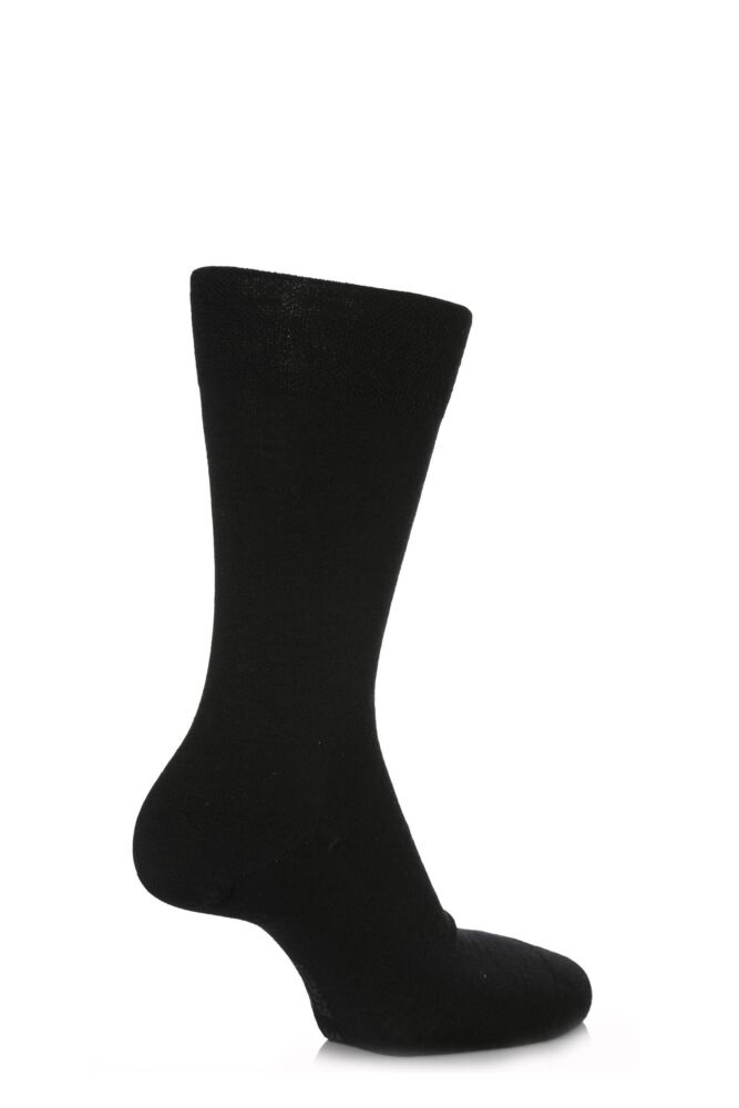 Mens 1 Pair Falke Sensitive Berlin Virgin Wool Left and Right Sock With Comfort Cuff