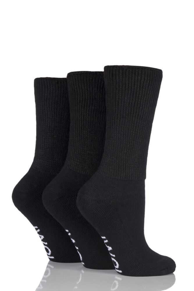 Ladies 3 Pair Iomi Footnurse Gentle Grip Cushioned Foot Diabetic Socks
