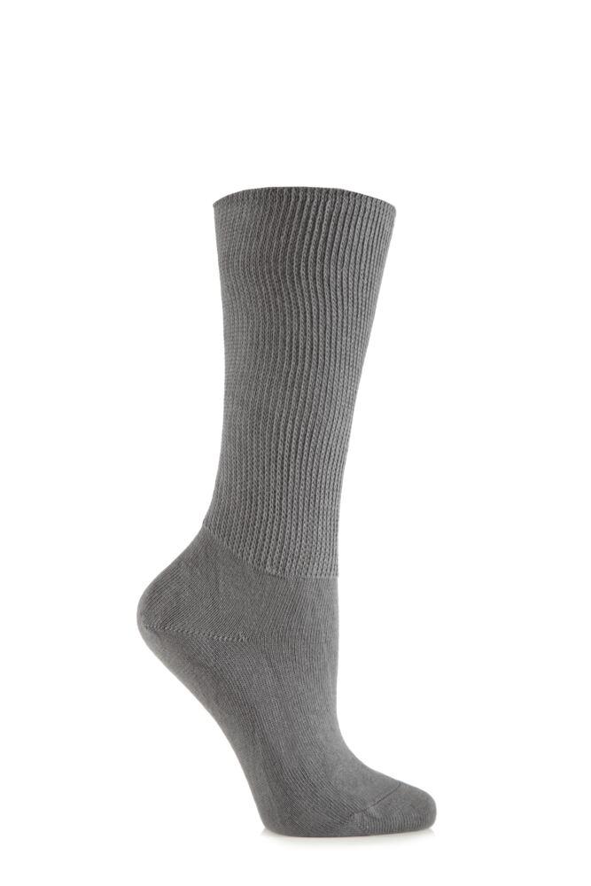 Ladies 1 Pair Iomi Footnurse Oedema Extra Wide Cotton Socks