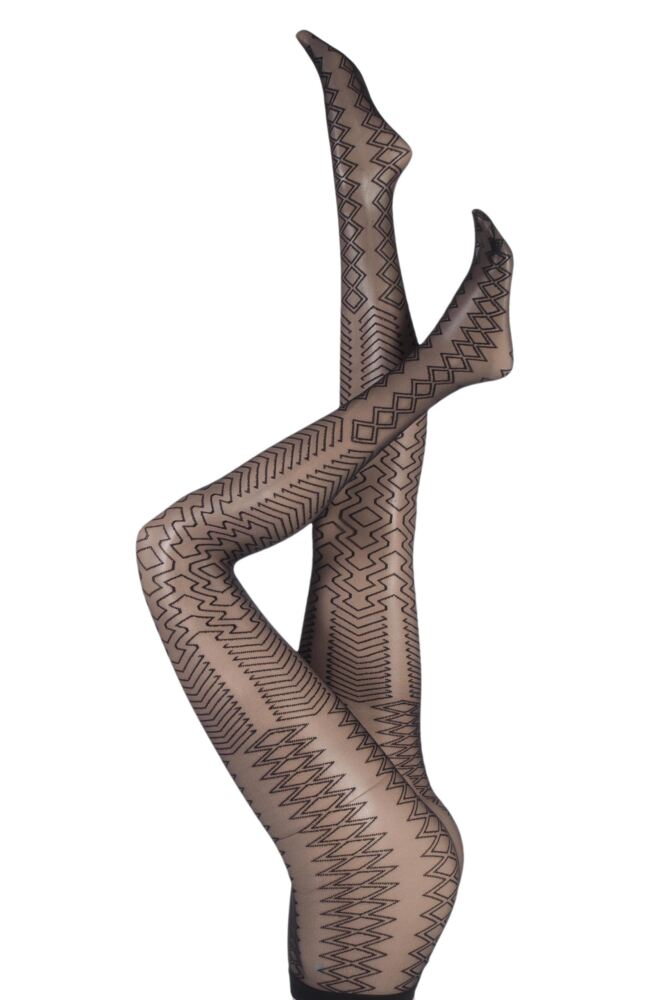 Ladies 1 Pair Jonathan Aston Fusion Geometric Diamond Tights