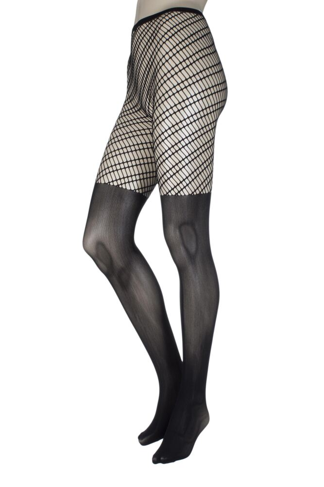 Ladies 1 Pair Jonathan Aston Aura Fishnet Sheer Bottomed Tights