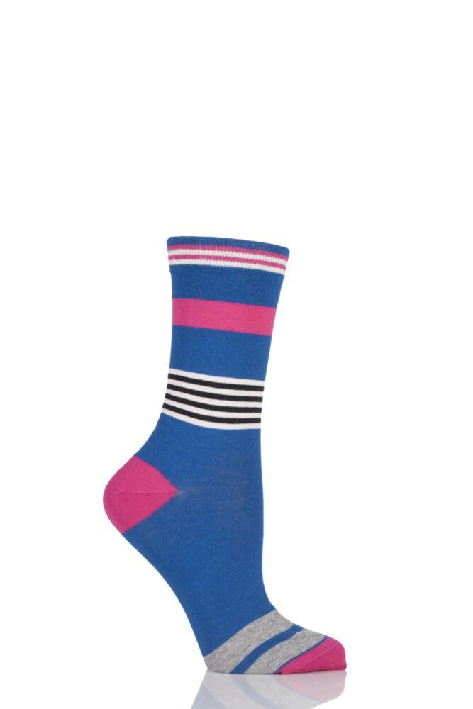 Ladies 1 Pair Jonathan Aston Impact Broken Striped Socks 25% OFF