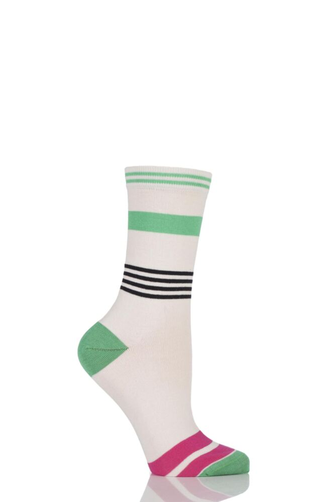 Ladies 1 Pair Jonathan Aston Impact Broken Striped Socks 25% OFF
