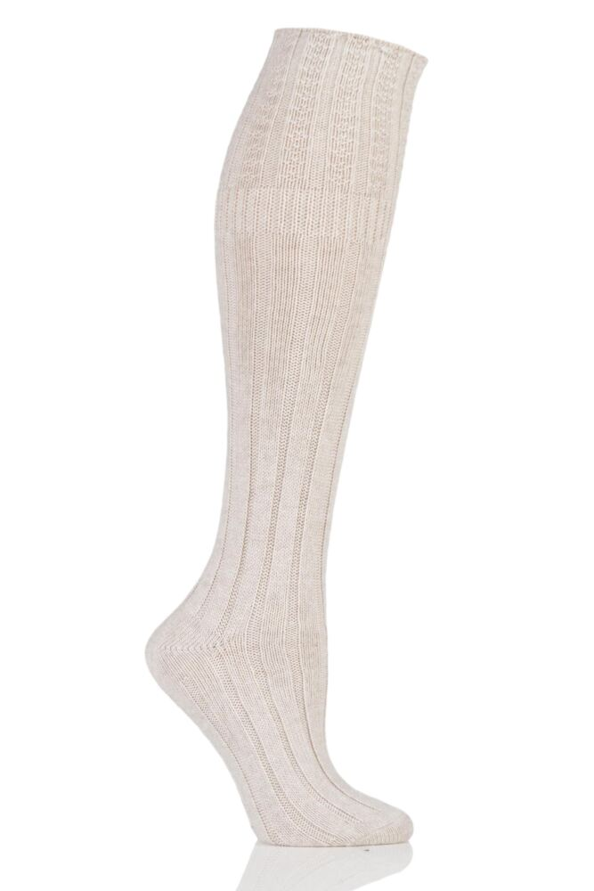 Ladies 1 Pair Jonathan Aston Turn Over Top Knee High Socks