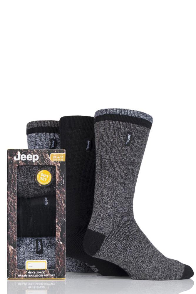Mens 3 Pair Jeep Terrain Leisure Socks Gift Box