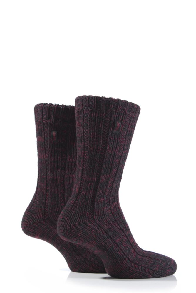Mens 2 Pair Jeep Urban Trail Marled Cotton Boot Socks 25% OFF This Style