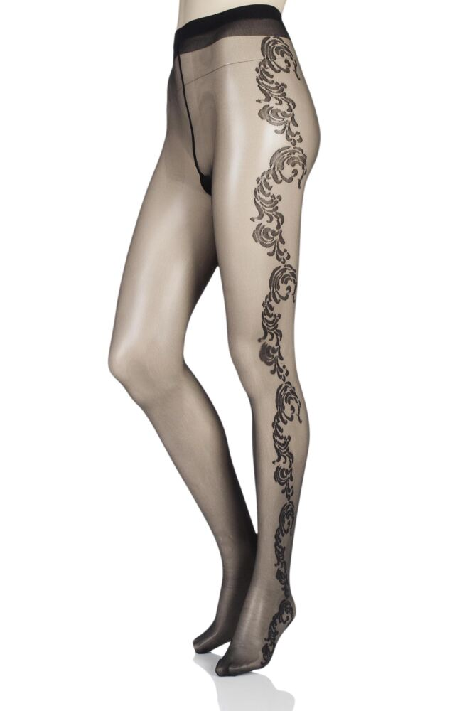 Ladies 1 Pair Levante Adriana Ornate Floral Tights 25% OFF