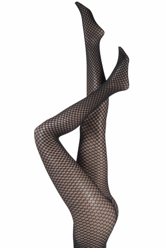 Ladies 1 Pair Levante Arianna Checkered Tights 33% OFF
