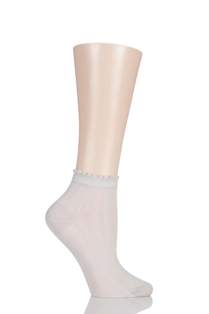 Ladies 1 Pair Levante Sofia Textured Trainer Socks