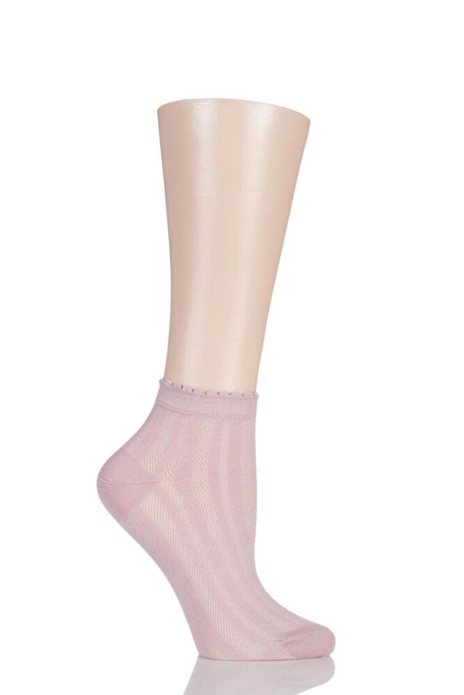 Ladies 1 Pair Levante Sofia Textured Trainer Socks